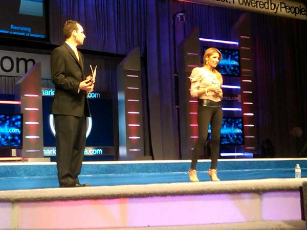 Christian Karasiewicz and Natalia Diaz talk growing your business with social media at the 2011 Market America World Conference