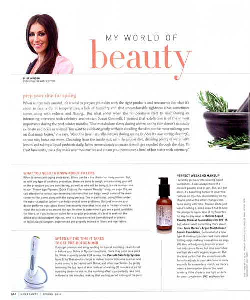 Motives by Loren Ridinger featured in New Beauty magazine