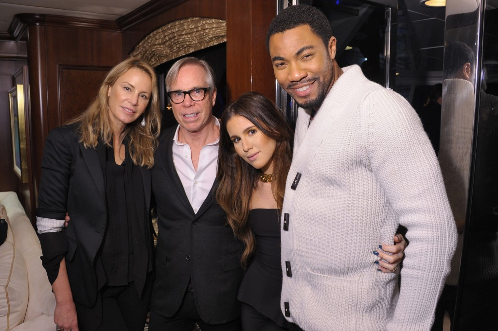 (from left) Dee Hilfiger, Tommy Hilfiger, Amber Ridinger and Duane McLaughlin